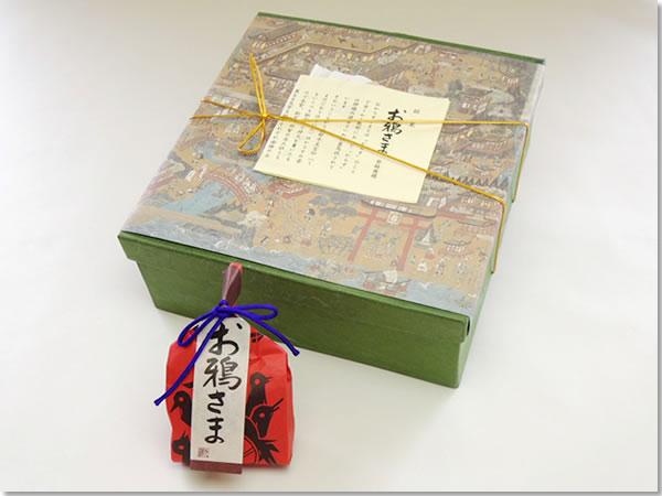 お鴉さま(おからすさま)外箱の写真 和歌山県新宮市・那智勝浦町にある和菓子の伝統を守る店 珍重庵  新宮本店・丹鶴店・勝浦店にて販売しております。