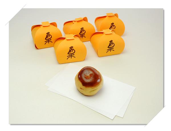 栗(栗まんじゅう)の商品写真。和歌山県新宮市・那智勝浦町にある和菓子の伝統を守る店 珍重庵  新宮本店・丹鶴店・勝浦店にて販売しております。
