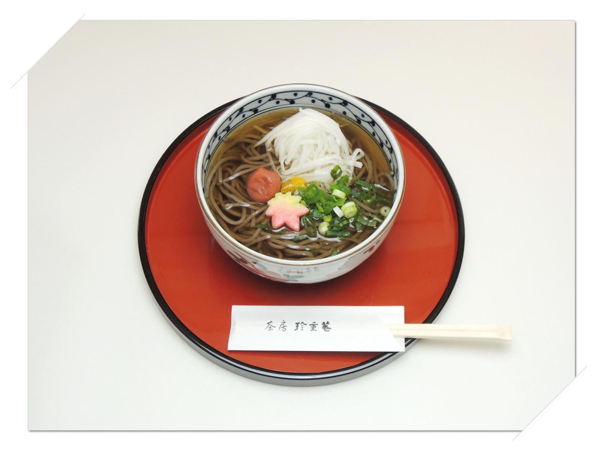 熊野本宮大社参道脇にある甘味処・お食事処「茶房珍重庵 本宮店」メニュー写真 もうでそば