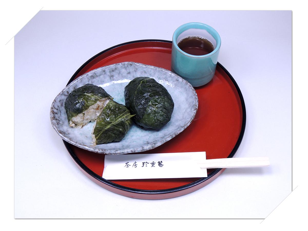 熊野那智大社・那智の滝・青岸渡寺の側 甘味処・お食事処・喫茶「茶房珍重庵 那智山店」メニュー写真 めはり寿司